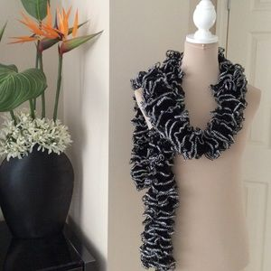 Accessories - Black & Silver Scarf, One Size